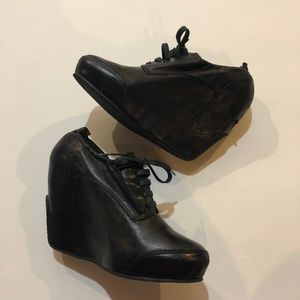94fadd17bbd4 Dries van Noten Shoes - Dries van Noten Leather Lace-up Wedge Sneakers